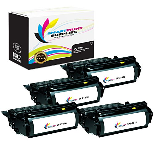 Smart Print Supplies Compatible 12A5740 Black High Yield Toner Cartridge Replacement for Lexmark Optra T610 T612 T614 T616 Printers (25,000 Pages) - 4 Pack