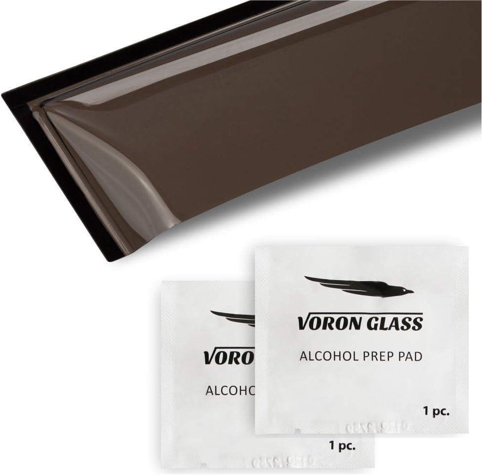 Tahoe 2015-2020 Vent Window Visors Voron Glass Tape-on Rain Guards for Chevrolet Chevy Window Deflectors 4 Pieces 120001