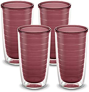 Tervis Clear & Colorful Insulated Tumbler, 16oz - 4 Pack - Boxed, Elderberry Wild