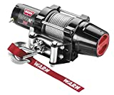 "WARN 101035 VRX 35 Powersports Winch with Handlebar Mounted Switch and Steel Cable Wire Rope: 7/32"" Diameter x 50' Length, 1.75 Ton (3,500 lb) Capacity"