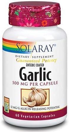 Solaray Garlic Supplement, 500mg   60 Count