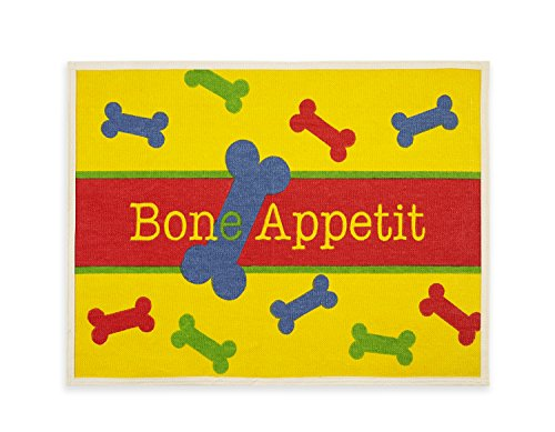 Buddy's Line Fashion Forward Pet Placemat, Bone Appettit