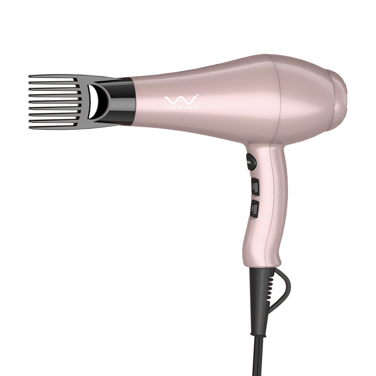 VAV Professional Hair Dryer Negative Ion Blow Dryer 1875W Salon Powerful Dryer Far Infrared With 3