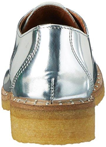 Shoe Biz Flat Laze Shoe, Scarpe Stringate Donna Argento (Velvet Silver)