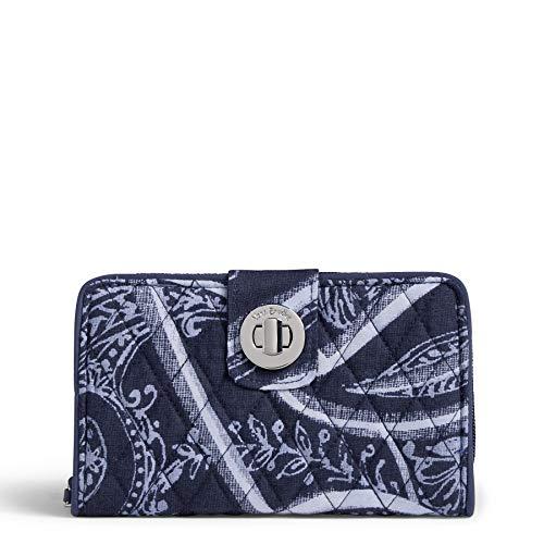 Vera Bradley RFID Turnlock Wallet, Signature Cotton, Indio