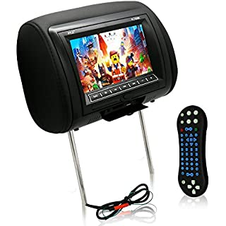 Discount Pyle 7-Inch Car Headrest Mount DVD Player USB LCD Screen Headrest Screen Car Seat Monitor Widescreen Monitor IR Transmitter Car Video Player Headrest Covers Remote Control Black (PL73DBK)
