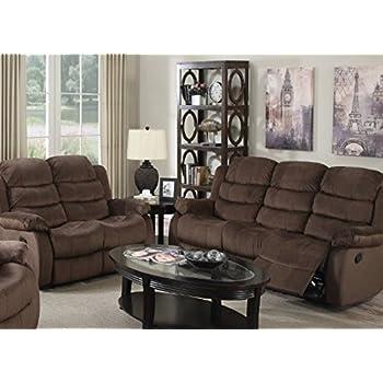 Amazon.com: Maison Muebles Short Plush reclinables Sofá/Love ...