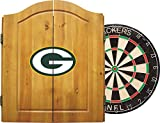 Imperial Officially Licensed NFL Merchandise: Dart Cabinet Set with Steel Tip Bristle Dartboard and Darts, Green Bay Packers
