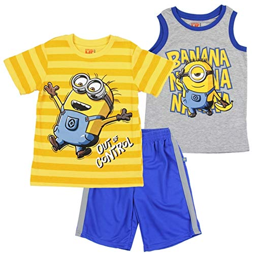 FashionWear Boys Authentic Character T-Shirt and Short Sets