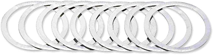 """FSA .25MM SILVER MICRO SPACER 1-1//8/"""" INTEGRATED HEADSET PART--BAG OF 10"""