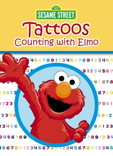 Sesame Street Counting with Elmo Tattoos (Sesame Street Tattoos) -
