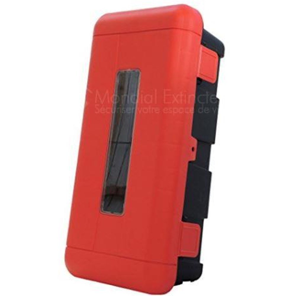 Armario de protecció n de plá stico para extintor de 6 kg o 6 L con ventana con cerradura Andris