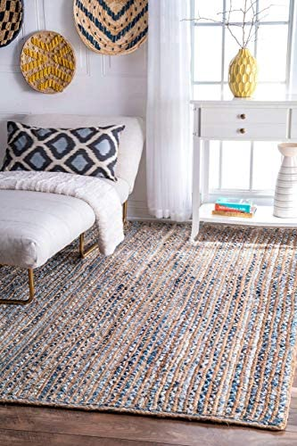 nuLOOM Dara Striped Jute Area Rug
