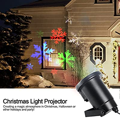 Gemtune Christmas LED Light Projector, Indoor and Outdoor Waterproof Ceiling Projection Decorative Wall Spotlights Night Light Lamp for Xmas Thanksgiving Day Party Home …