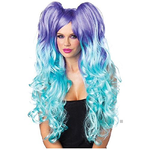 Moonlight Wig Adult Womens Long Curly Cosplay Anime Rave Halloween Costume Acsry - Long Moonlight Wig