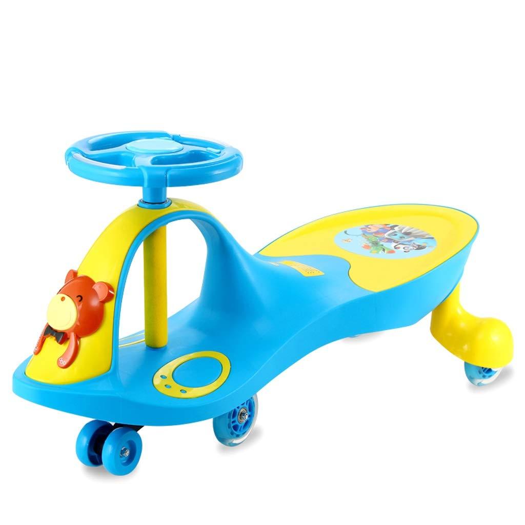 bleu Mute wheel Les Enfants Se tordent la Roue Universelle 1-3-6 Ans Scooter de Voiture d'oscillation de bébé de Voiture de Voiture de bébé Xuan - Worth Having (Couleur   bleu, Taille   Flash Wheel)