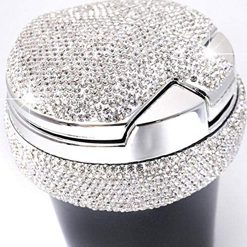 EUEMCH ライトクリスタルダイヤモンド付き車の灰皿は車の灰皿灰皿収納カップを導いた