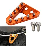 NICECNC Orange Rear Brake Pedal Step Plate Tip for 125/150 SX 250/350/450 SXF 2016-2018,250/350/450 XCF 2016-2017,250/450 SXF Factory Edition 2015-2016