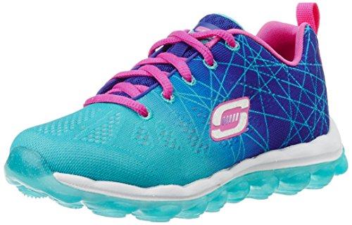 Skechers Mädchen Skech AirLaser Lite Sneakers, Blau (BLAQ), US 2|UK 1|EU 33.5