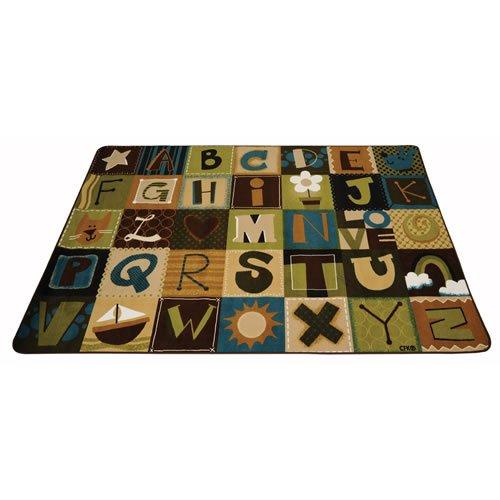 Carpets for Kids 11724 Toddler Alphabet Blocks Kids Rug Size: 4' x 6' 4' x 6' , 4' x 6' , Multicolored