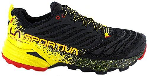 La Sportiva Mens Akasha Trail Scarpa Da Running Nero / Zolfo