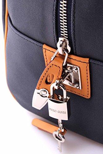 Borsa Mano Donna PIERO GUIDI 116AY3470 Col 15 Tessuto Tecnico Blu Made In Italy