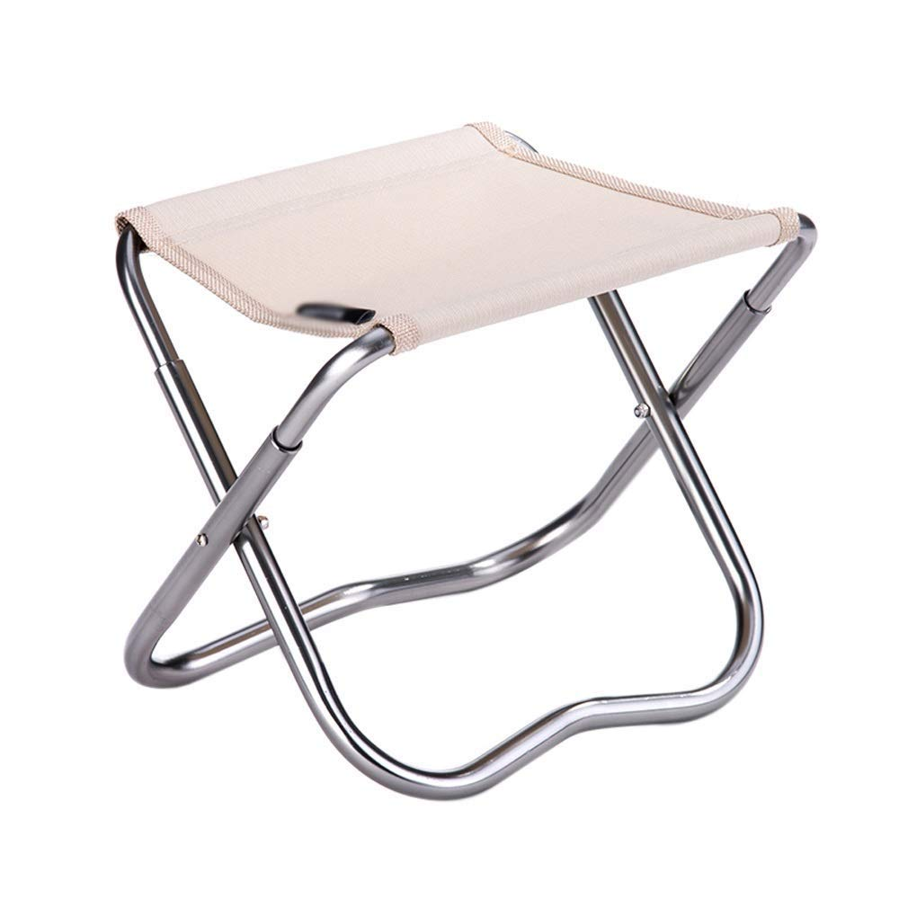 Outdoor Folding Chair Aluminum Modern Minimalist Lightweight Portable Multi-Function Camping Picnic Travel Fishing Mountaineering BBQ Outdoor 2 Colors Optional (Color : Khaki)