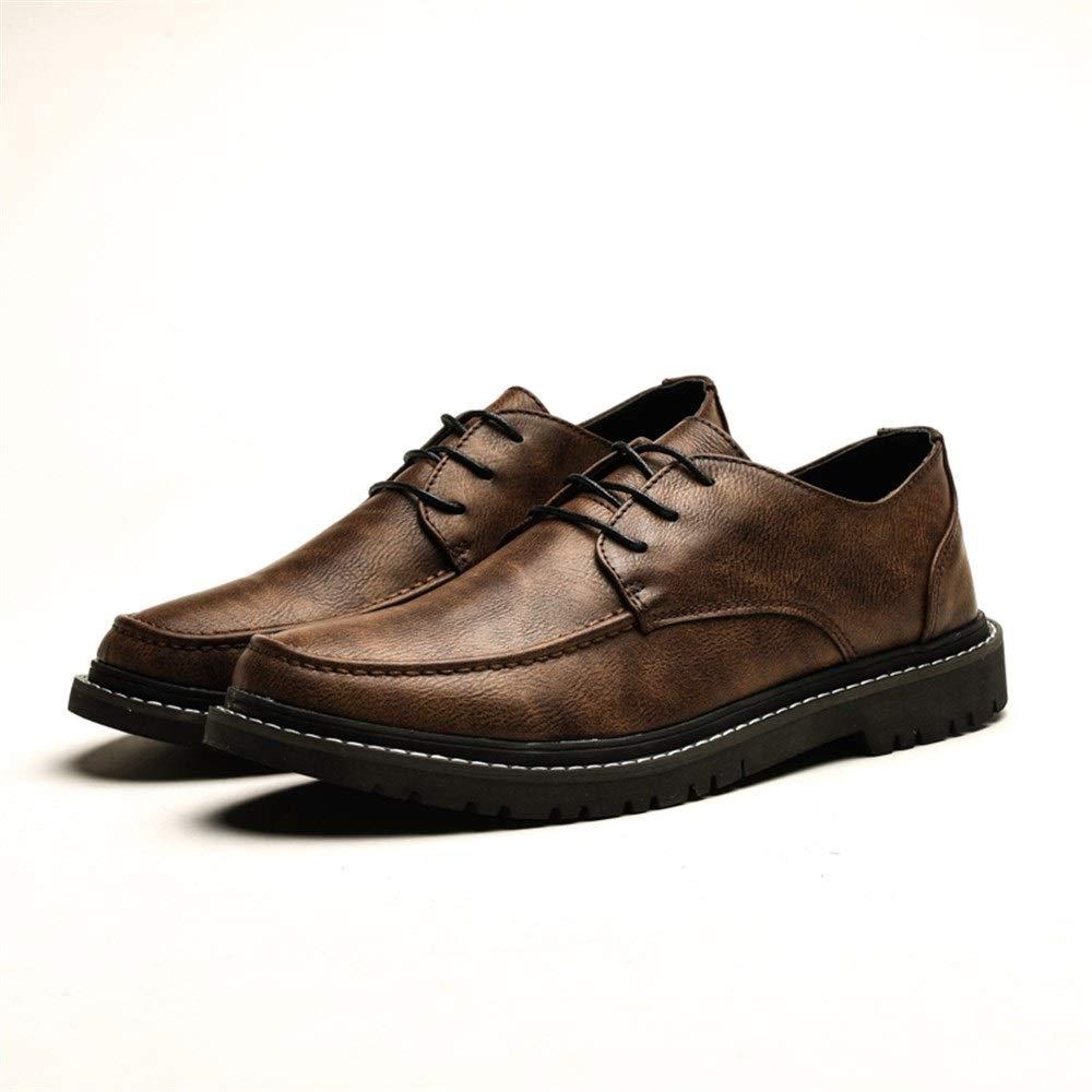 HILOTU Zapatos Formales para Hombres Estilo con Cordones ...