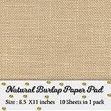 Boston Creative company Printable Natural Burlap Paper Pad | Burlap Scrapbooking Supplies | Laminated Burlap Paper | Burlap C