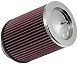 K&N RF-1016 Universal Clamp-On Air Filter: Round Tapered; 3.5 in (89 mm) Flange ID; 7 in (178 mm) Height; 5.75 in (146 mm) Base; 5 in (127 mm) Top