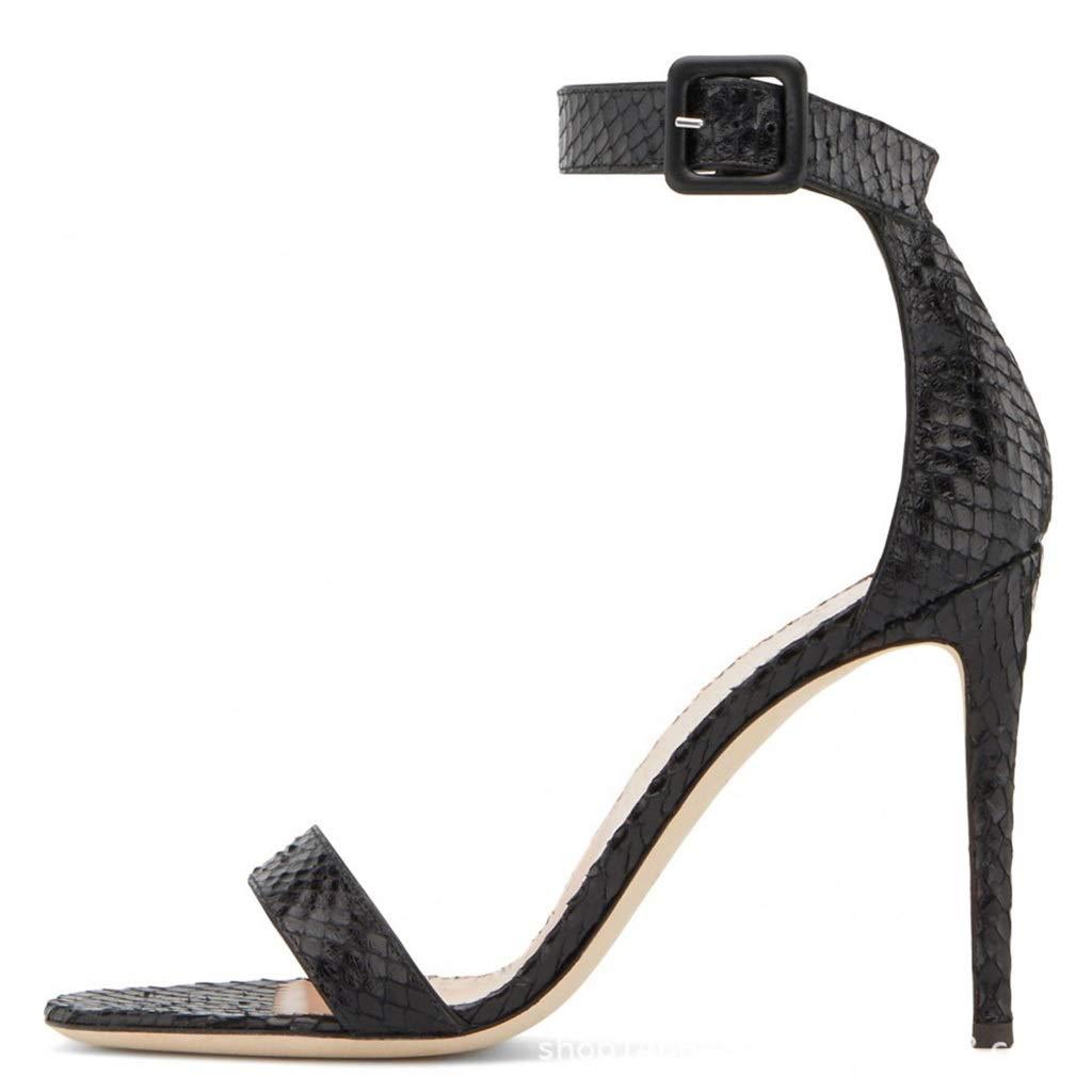 女性ファッション黒のセクシーなハイヒールオープントゥハイヒールのサンダル怠惰な靴サイズ37-46ヤード B07RBRBZG8  44