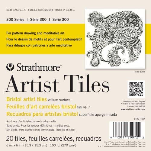 Strathmore 105-972 300 Series Bristol Artist Tiles, Vellum 6