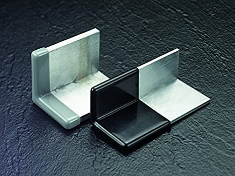 Caplugs 99394240 Plastic Angle Cap to Cover Metal 90 Degree Angle Frame Corners Vinyl Pack of 36 Angle Frame Size 1.500 Metal Thickness .125 Height .500 VAC-1500X1500-8 Black
