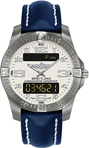 Breitling Professional Aerospace Evo Limited Edition Mens Watch w/Blue Leather Strap