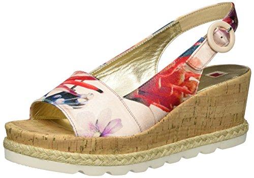Högl 3-10 3219, Sandalias de cuña Mujer Multicolor (multi/rose9947)