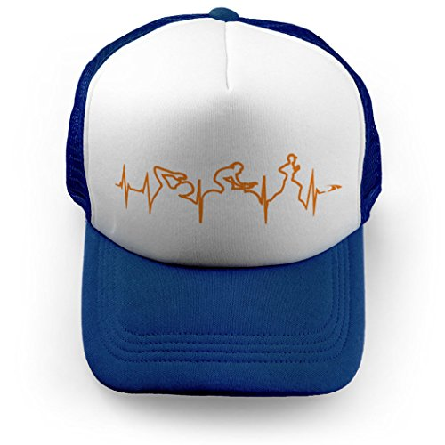 ChalkTalkSPORTS Triathlon Trucker Hat Heartbeat - Hats Triathlon