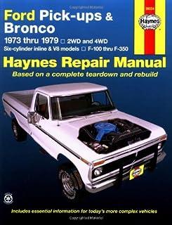 1978 ford truck shop manual ford motor company david e leblanc rh amazon com Ford Aerostar Repair Manual Ford Pickup Truck Repair Manual
