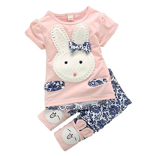 yo-coco-baby-boys-girls-pink-cute-rabbit-top-short-pants-2pc-short-set-clothes-size-6-12-months