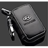 Bearfire Leather Car Key Case Remote Control package Auto Key Chains for KIA Lexus Mazda (Hyundai)