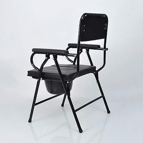Commode Chair Yuehg Silla WC con Reposabrazos Mujeres Embarazadas El Anciano Paciente Plegable Silla De Inodoro