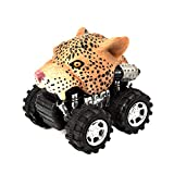 Animal Pull Back Cars, Mini Vehicle Animal with Big Tire Wheel Creative Gifts for Kids Boys By GreatestPAK (G)
