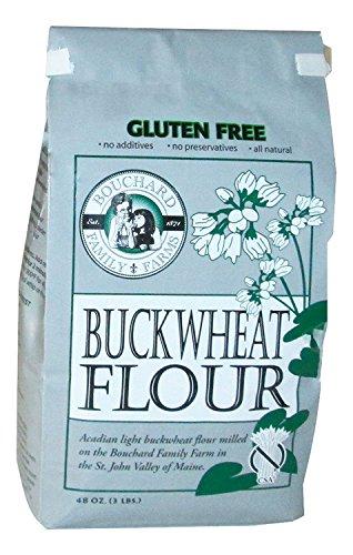 Bouchard Family Farms Gluten-Free and Kosher Acadian Light Buckwheat Flour, 3lb Bag ()
