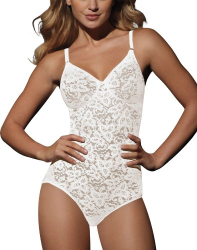 Lace Firm White Shaper - Bali Lace `N Smooth Women`s Firm Control Body Briefer White
