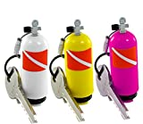 Scuba Tank Keychain. 3 Different Colors. Plastic Diving Tank Key Chains Holder with O-rings