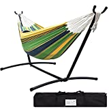 Lazy Daze Hammocks Double Hammock With Space Saving Steel Stand (Small Image)