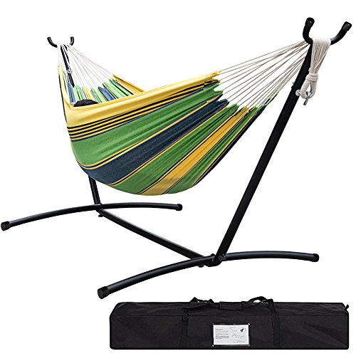 Lazy Daze Hammocks Double Hammock With Space Saving Steel Stand (Large Image)