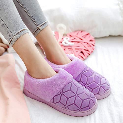 De Plates Mode Plage Tongs Violet Femme Femmes Hiver Chaussures Bling Sandales D'été Chaussons Flats 7xStng