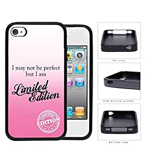 I Am Limited Edition Pink Rubber Silicone TPU Cell Phone Case Apple iPhone 4 4s