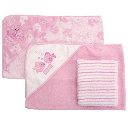 Koala Baby 3-pack Towel Set - Dolphin