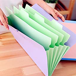 Well-built document file poly expanding A4 accordian style folders 4 pack School season